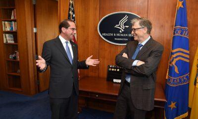 Secretary Azar and Bill Gates